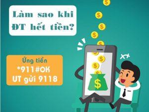 Ứng tiền điện thoại khi hết tiền